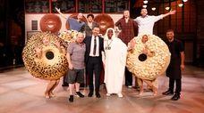 Jason Alexander, from left, Jimmy Kimmel, Tracy Morgan