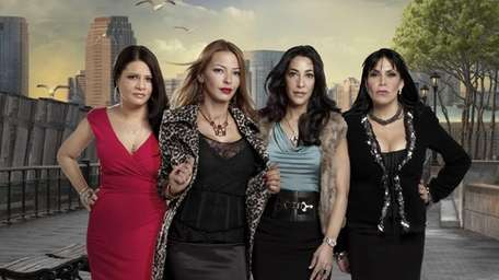 """The cast of MTV's """"Mob Wives"""", 2011, from"""