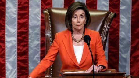Speaker of the House Nancy Pelosi presides over