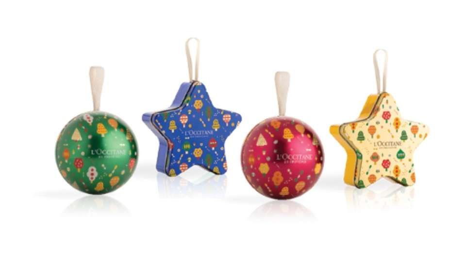 New holiday ornaments come with three L'Occitane minis,