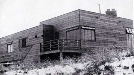 The now-demolished Sand Box in Bridgehampton was built