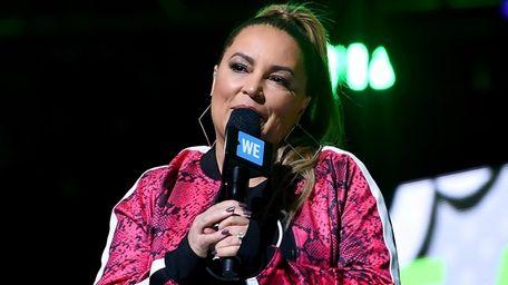 Angie Martinez speaks onstage during WE Day UN