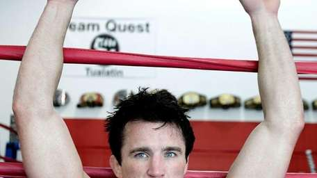TUALATIN, OR - JUNE 26: Chael Sonnen rests