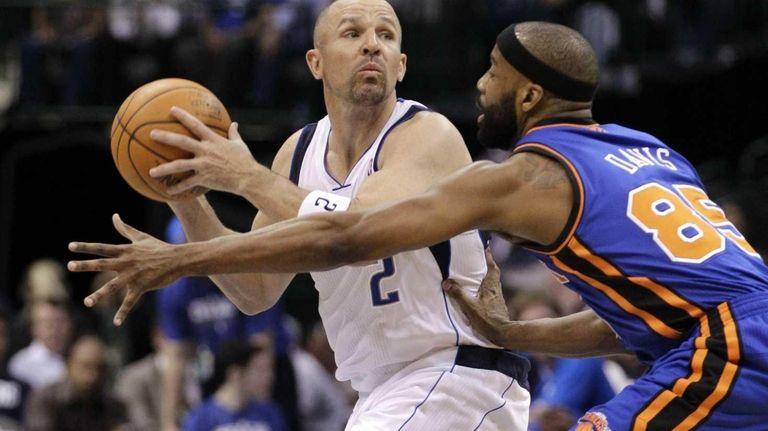 Former Dallas Mavericks' guard Jason Kidd (2) and