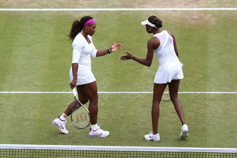 Serena (L) and Venus Williams of the USA