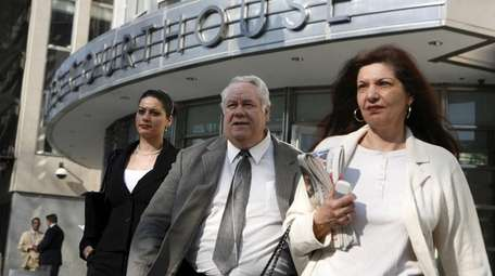 Louis Eppolito leaves federal court in Downtown Brooklyn