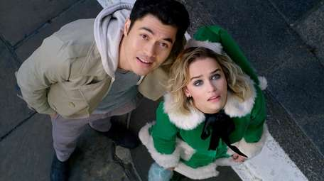 (from left) Tom (Henry Golding) and Kate (Emilia