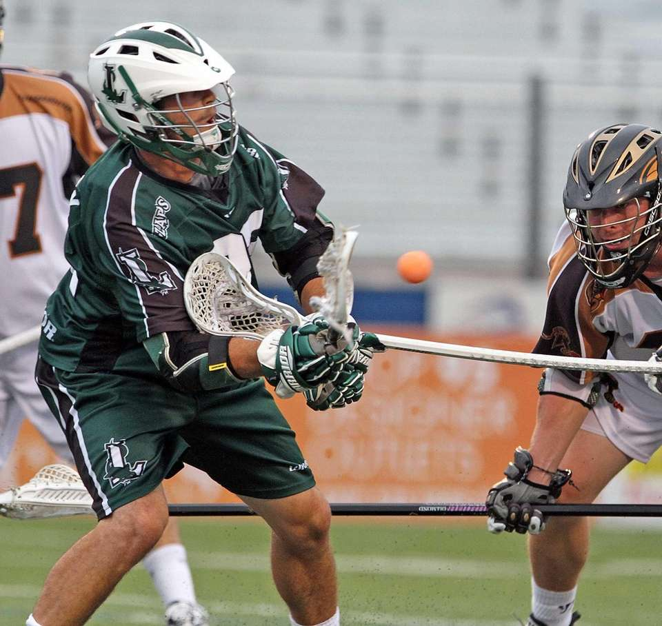 Tom Palasek gets receives a pass during the