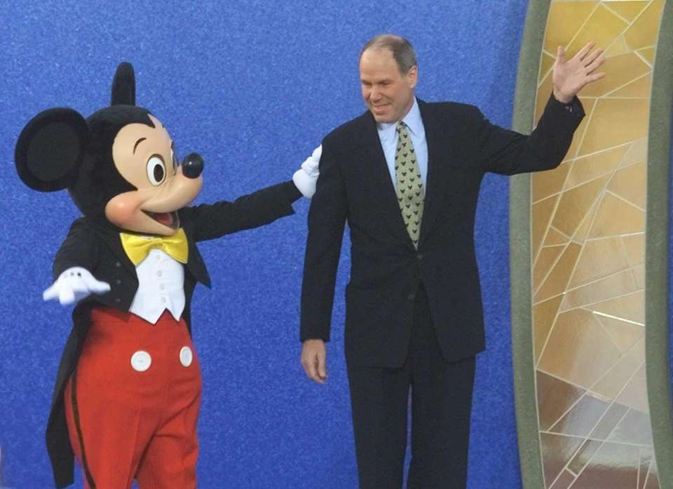 Walt Disney CEO Michael Eisner is introduced by