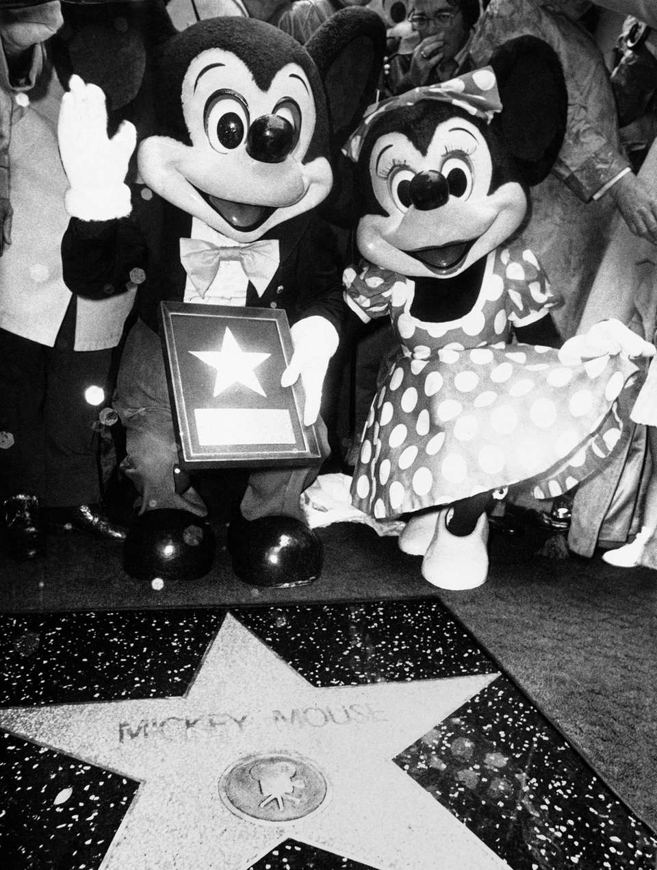 Mickey Mouse, the cartoon character created by Walt