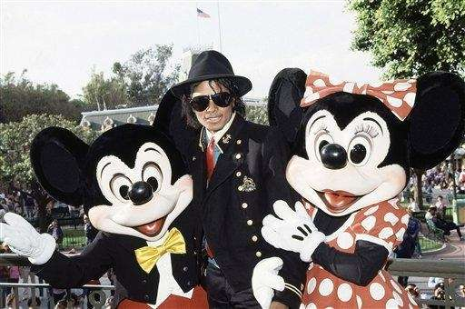 Grammy-winning singer Michael Jackson is given a warm
