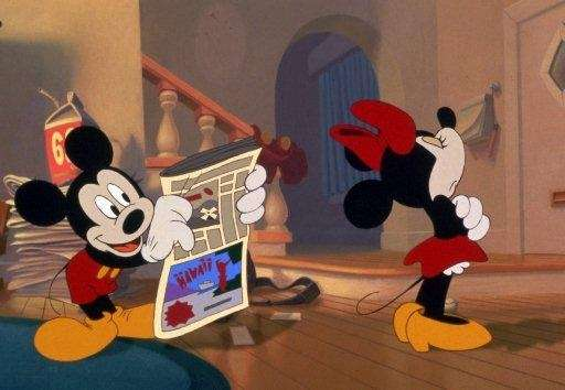 When Minnie Mouse gives Mickey Mouse the cold