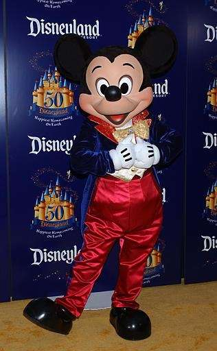 Mickey Mouse arrives at Disneyland's 50th Anniversary Celebration