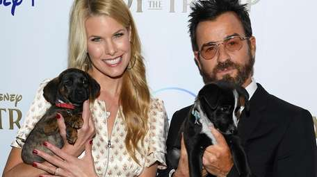 Beth Stern and Justin Theroux attend a special