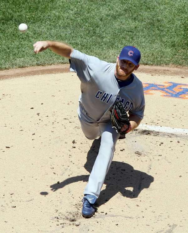 Ryan Dempster pitches against the Mets. (July 8,