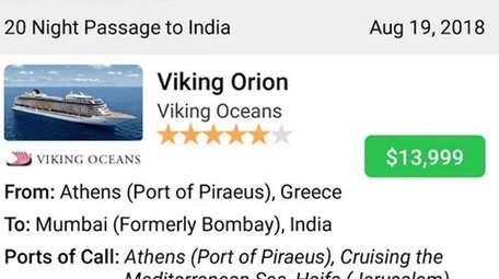 The Cruise Finder app allows users to filter