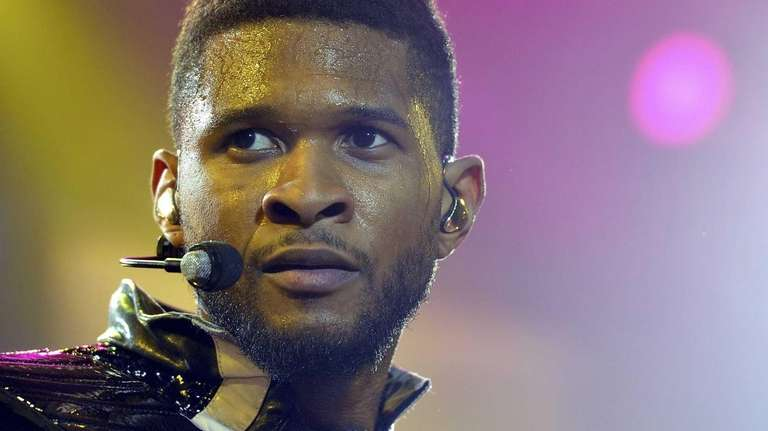 Usher performs at The O2 Arena in London.