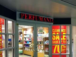Perfumania offers fragrances at Penn Station.