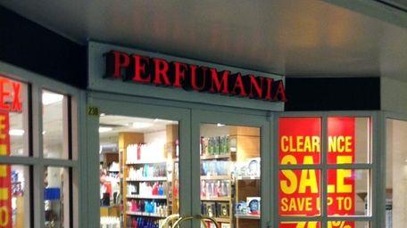 Perfumania offers fragrances at Penn Station.