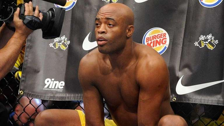 Anderson Silva gets ready before his UFC 148