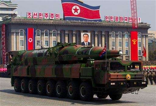 In this file photo, a North Korean vehicle