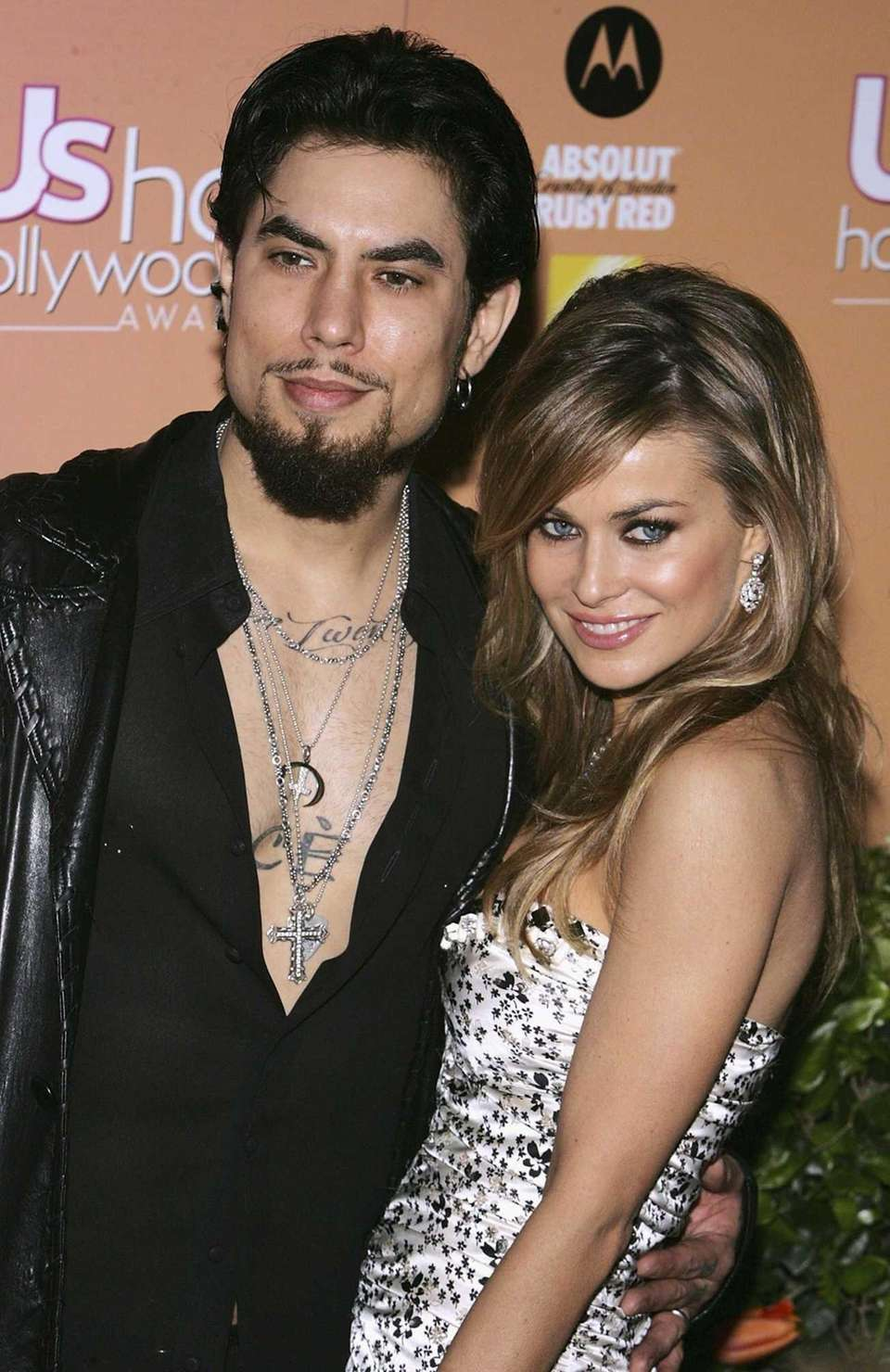 Actress Carmen Electra and rocker Dave Navarro first