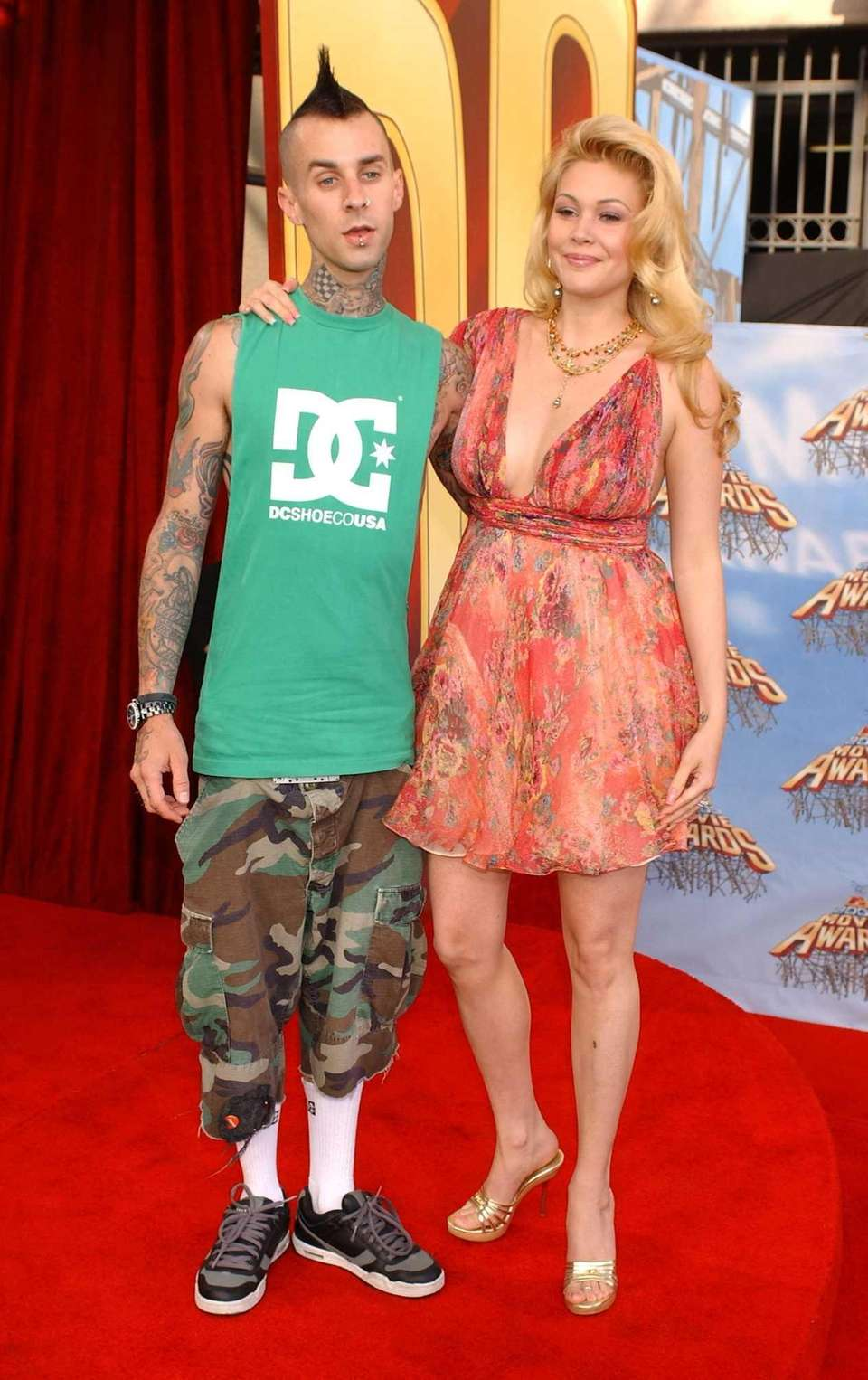 Blink 182 drummer Travis Barker and former Miss