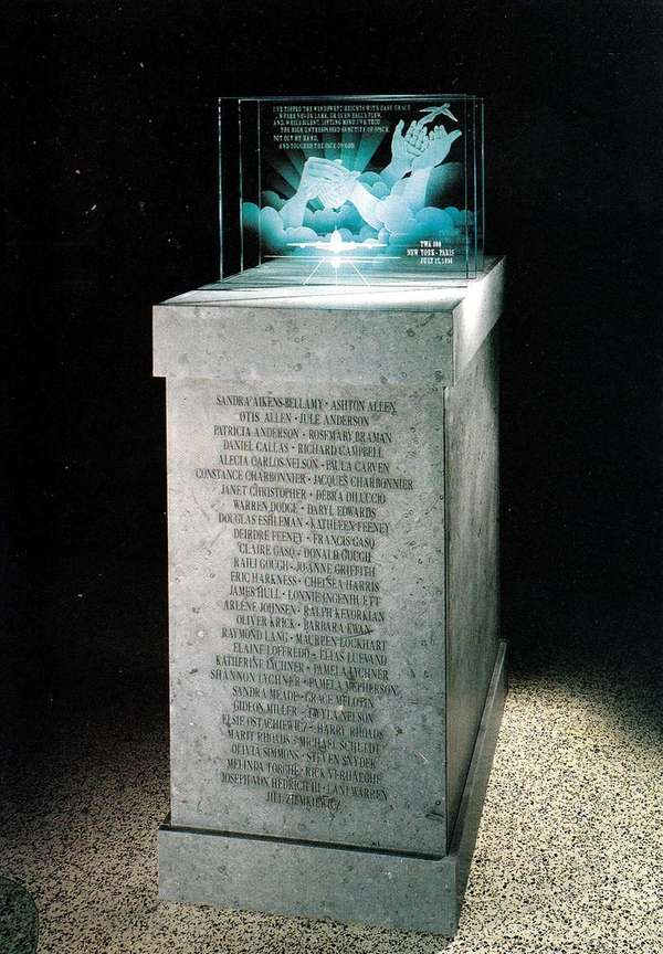 An undated photo of the four foot-high memorial,