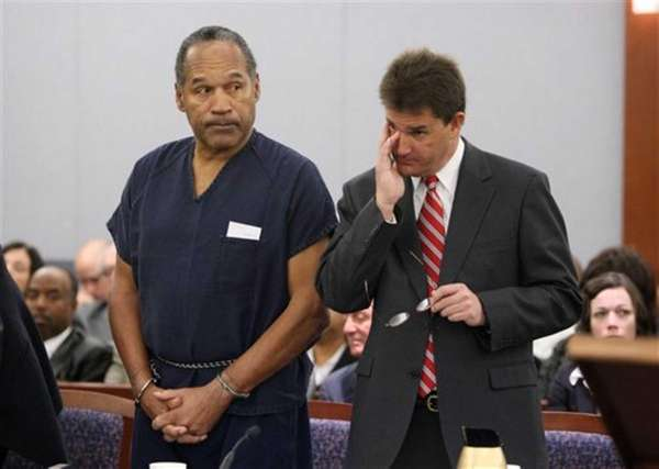 O.J. Simpson, left, and his lawyer Yale Galanter