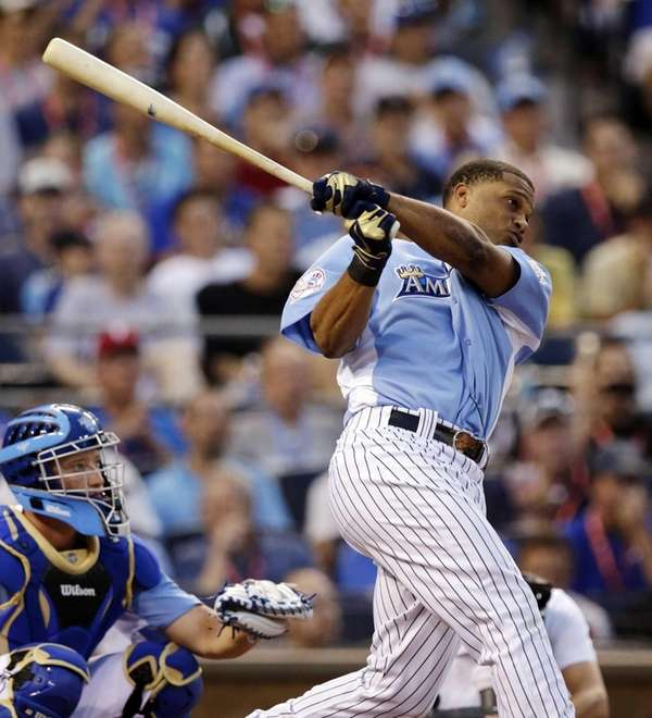 Robinson Cano swings during the 2012 Home Run