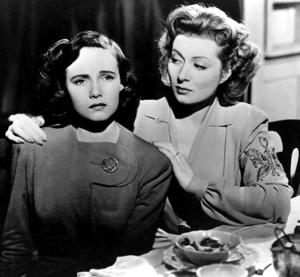 Teresa Wright (left) and Greer Garson, shown in