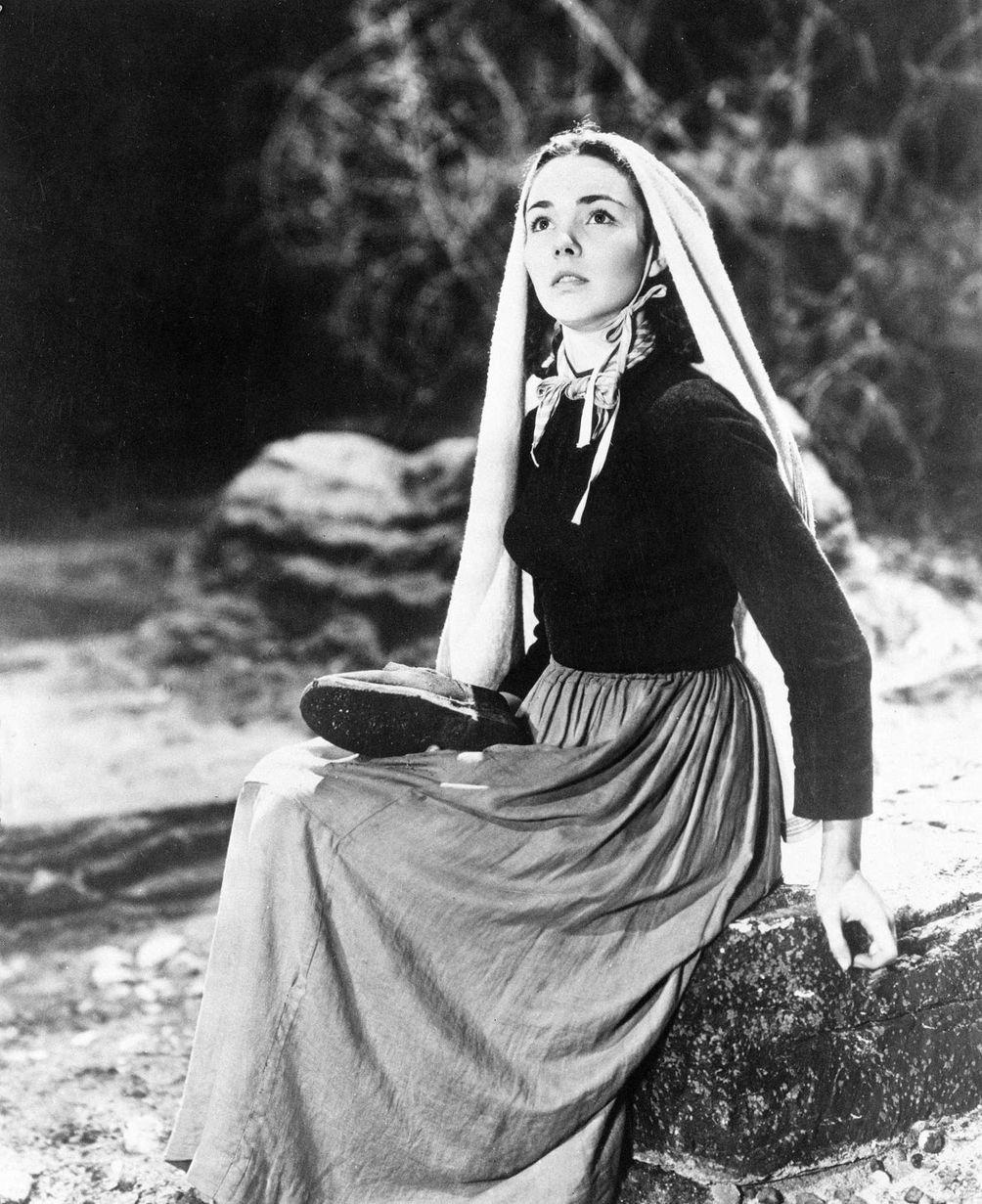 Jennifer Jones, in a scene from the 1943