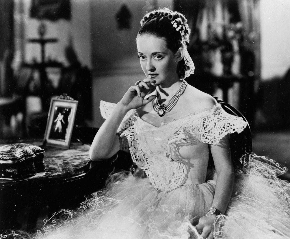 Bette Davis is shown in her role in