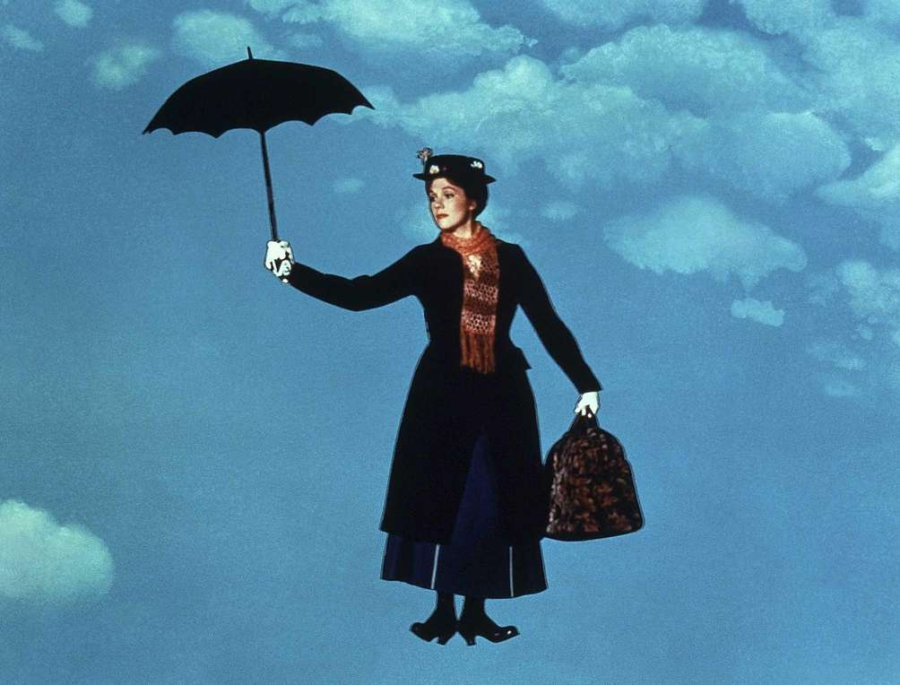 Julie Andrews, in a scene from the 1964