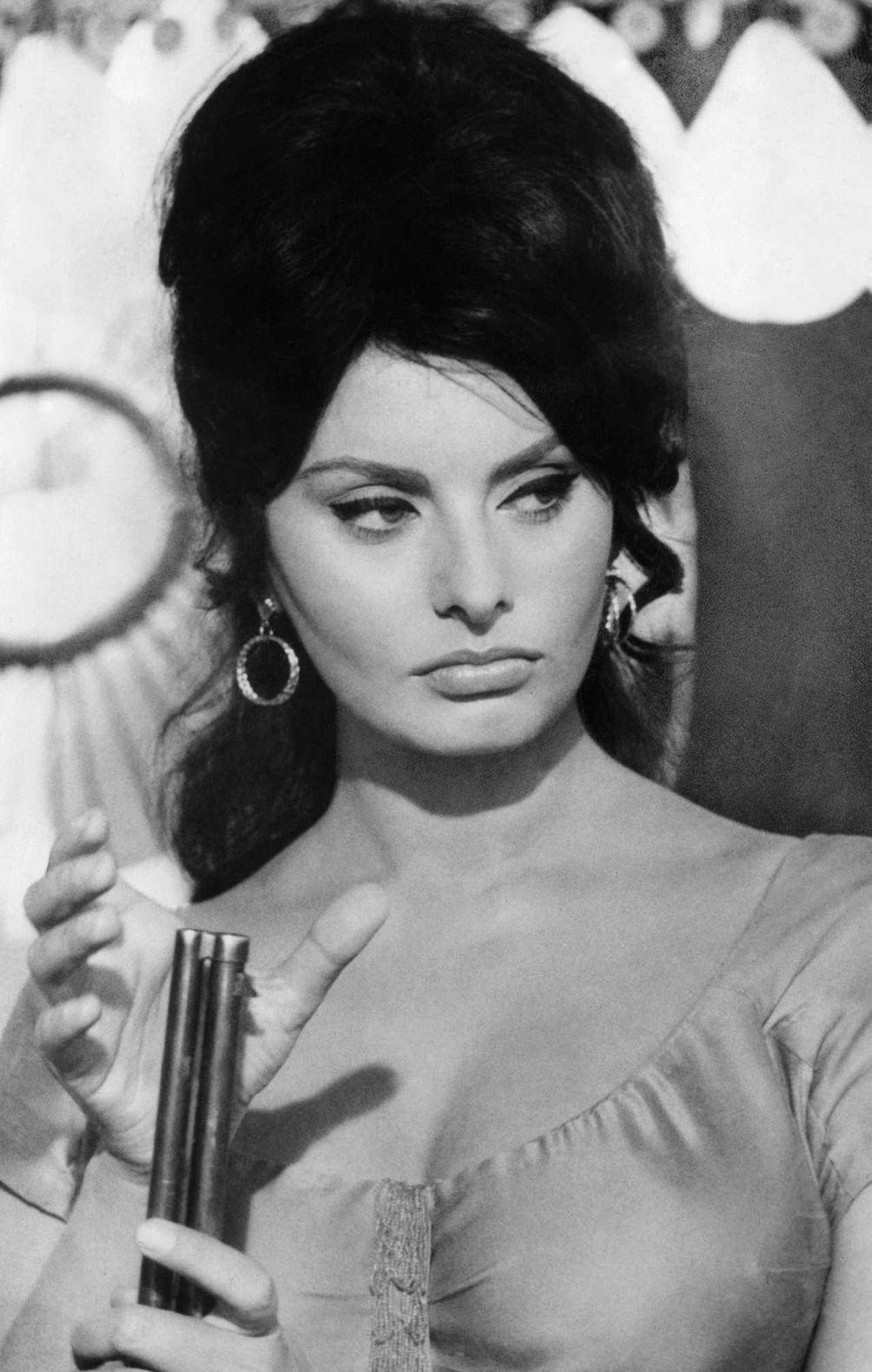 Sophia Loren, is in a scene from the