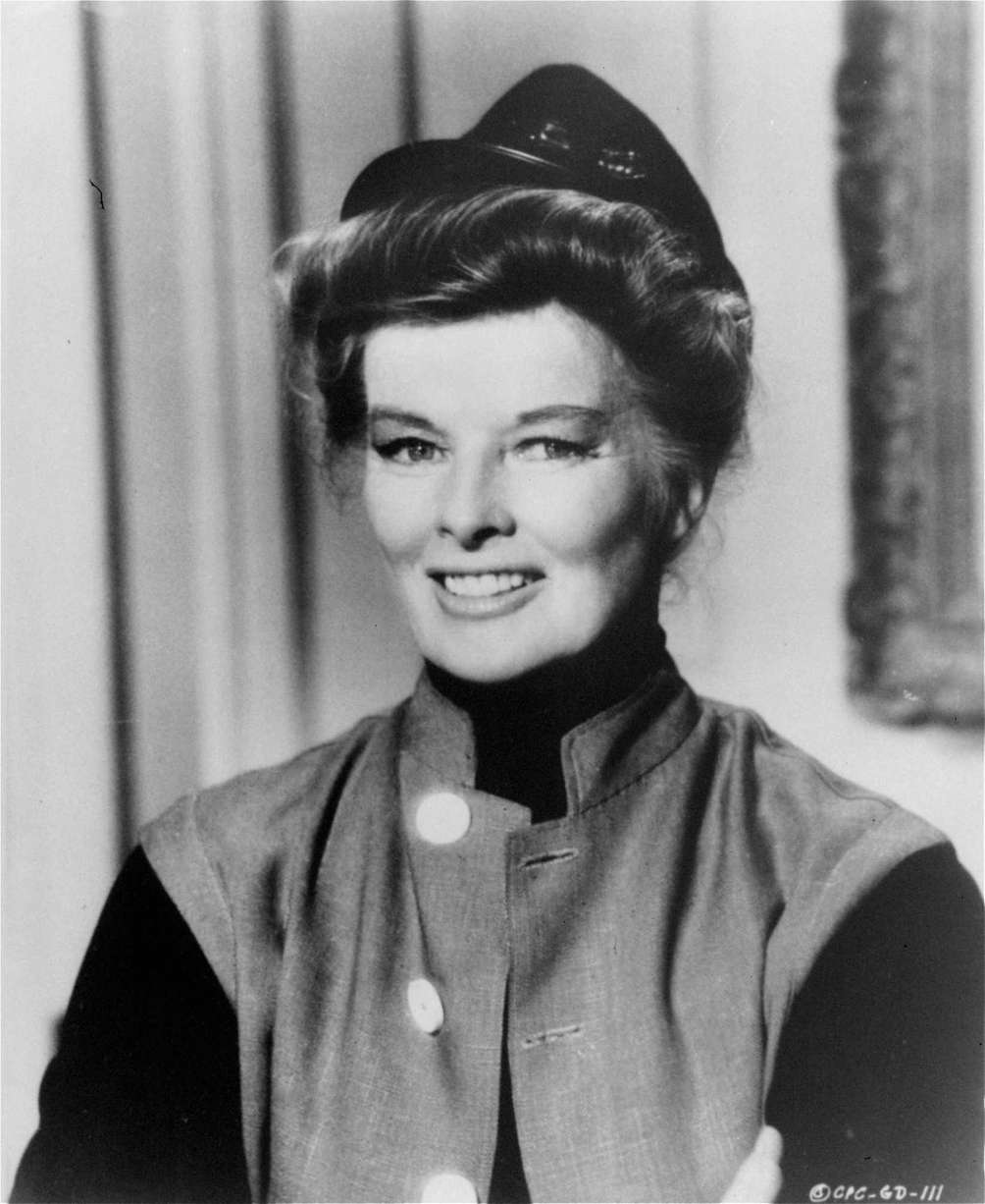 Katharine Hepburn, in a photo from the 1967