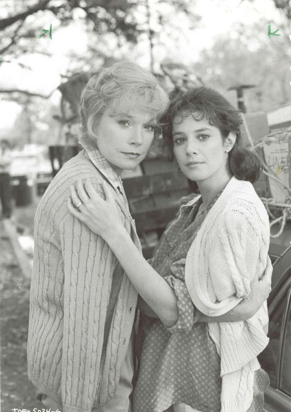 Shirley MacLaine (left) and Debra Winger (right), in