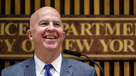NYPD Commissioner James O'Neill, who announced his resignation