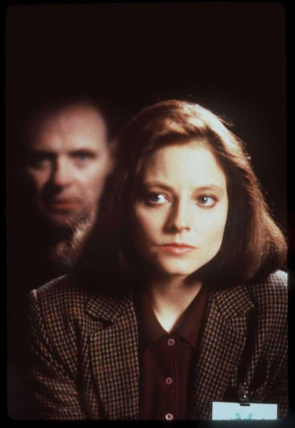 Sir Anthony Hopkins and Jodie Foster, in a