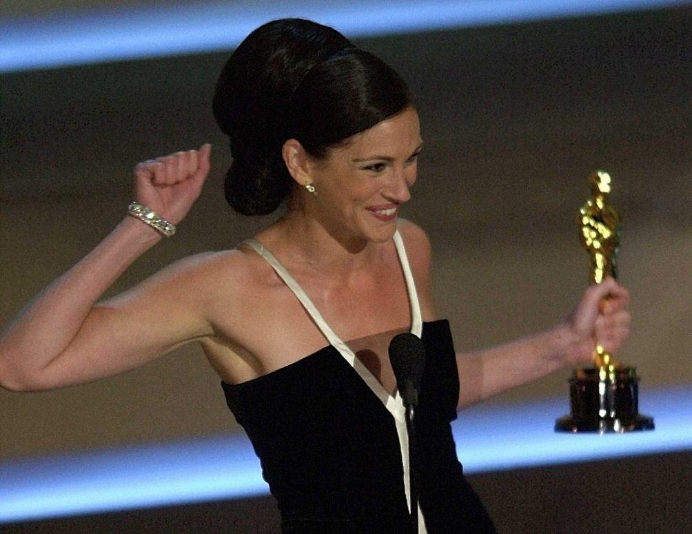 Actor Julia Roberts, reacting to winning the 2001