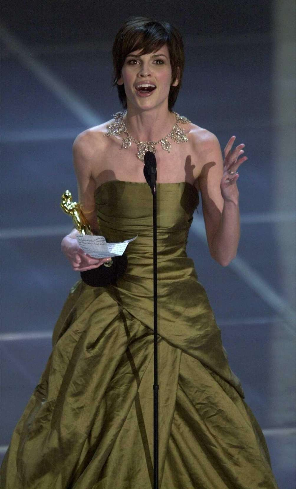 Actor Hilary Swank, accepting the 2000 Academy Award