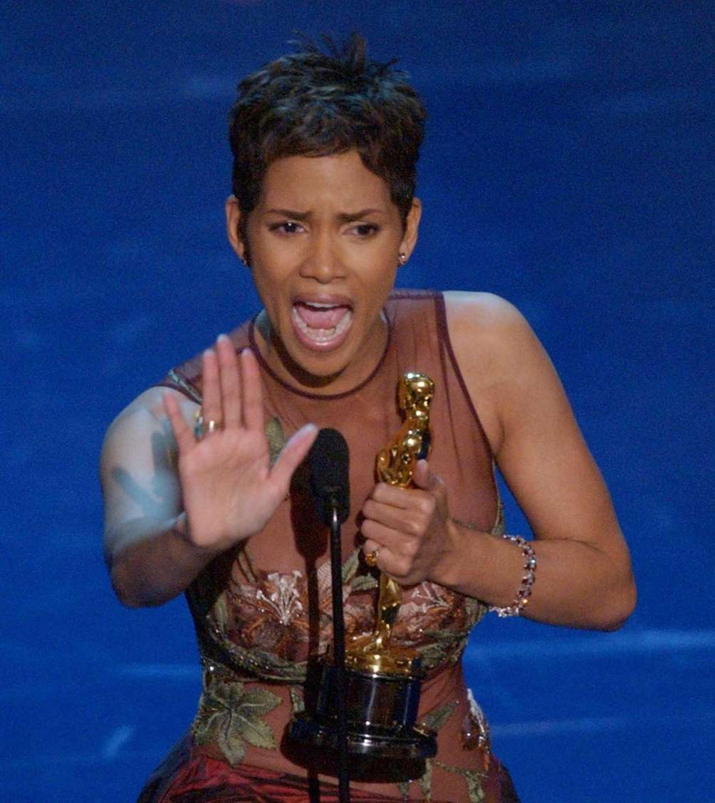 Actor Halle Berry, reacting to winning the 2002
