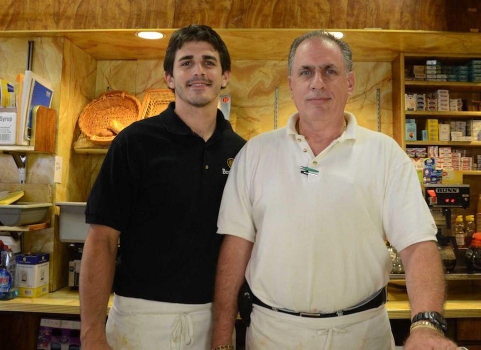 Ronald Collura, 54, right, and his son Matthew