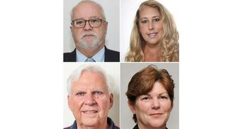 Clockwise from top left, Shelter Island Town Supervisor-elect