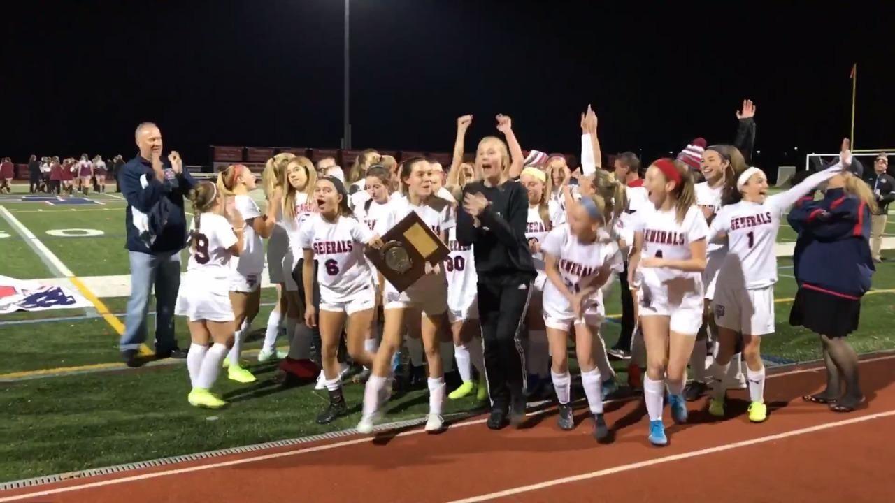 Watch the MacArthur girls soccer team celebrate after