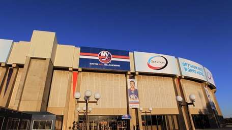 A view of Nassau Coliseum before the New