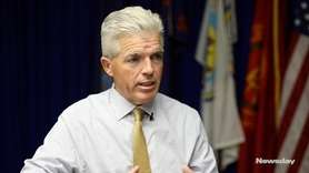 Suffolk County ExecutiveSteve Bellone spoke to Newsday on
