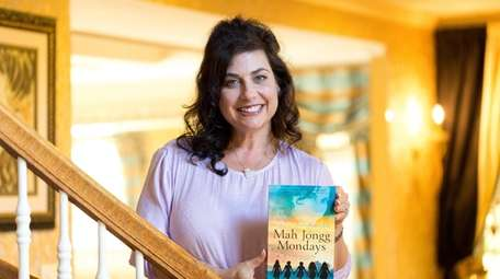 "Fern Bernstein of Melville with her book, ""Mah"