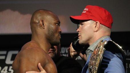 UFC welterweight champion Kamaru Usman and challenger Colby