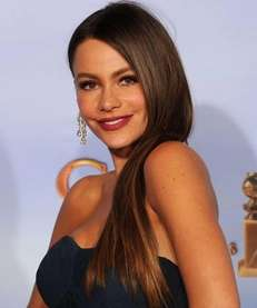 Actress Sofia Vergara poses in the press room